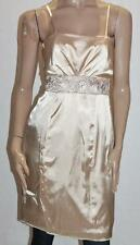 Unbranded Designer Gold Satin Lace Insert Formal Dress Size M BNWT #sV74