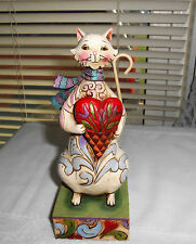 "Cozy Heart"" Cat Figurine Enesco Jim Shore Heartwood Creek #4014990"