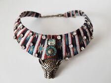 ZARA sold out Tribal Bib Tigre HOMOLOGUE chaîne Necklace Hippie Choker Ethnic