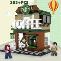 283Pcs City Coffee Shop Building Blocks set with Figures Street View Toys Bricks