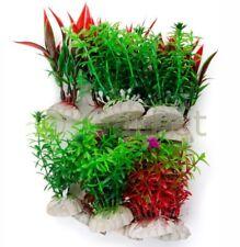 12x Aquarium Wasserpflanzen Set Aquarien Künstliche Pflanze Sparset Kunstpflanze
