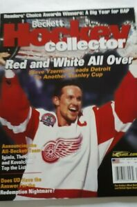 2002 Aug Hockey Beckett Steve Yzerman Detroit Red Wings Stanley Cup Winners