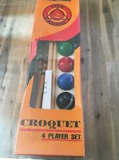Brand New Wooden 4 X Player Croquet Set IMPERFECT