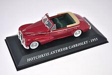 Voiture modèle réduit collection 1/43ème Hotchkiss Anthéor Cabriolet de 1953
