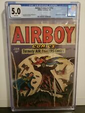Airboy Comics V2 #12 CGC 5.0 White Pages 1946 Valkyrie & Misery Appearance