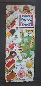 👉TARGA GELATI ELDORADO - Vintage  1989 Eldoleo disegni di Cavazzano🍦Calippo