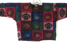 Felice Sweater Cropped Boxy Multi-Color Chunky Knit Size M