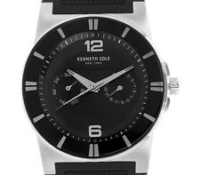 NEW $95 Kenneth Cole New York Men's NY Sport Trend Round Black Watch 10008220