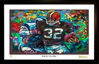 SALE 50% OFF JIM BROWN L.E. 95/99 ART PRINT SIGNED BY ARTIST TO STARS, WINFORD