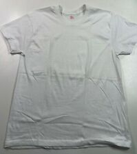 Vintage Jcpenney T Shirt Plain White Blank Single Stitch Usa Cotton Blend Medium
