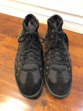 Diesel Mens Shoes Fashion Sneakers Black Canves Size 10 US