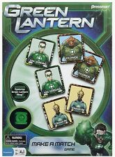 Green Lantern Make A Match Game By Pressman For Ages 3-6 - Free Shipping