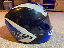 HJC R-Pha 10 L Grande 58-59cm casco de cara completo azul Pinlock-Excelente Estado