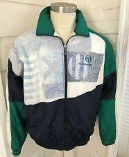 Vintage Sergio Tacchini Full Zip Tracksuit Top Windbreaker Jacket Nylon 42 Large