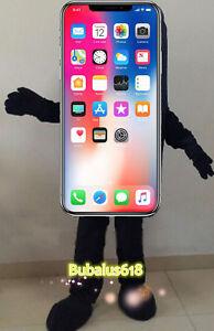 Black iPhone X Customade Mascot Costume Festival/Christmas Fancy dress 2019 top