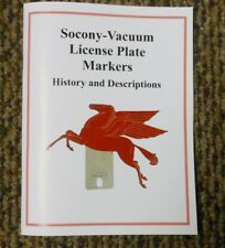 New 10 Edition Update Socony-Vacuum License Plate Topper Booklet - Pegasus