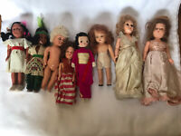 Antique & Vintage Small Doll Lot 8 Dolls from the 60's
