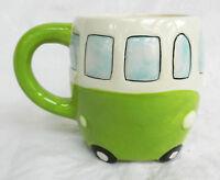 Volkswagen - V W Camper Van Ceramic Mug - Green - BNIB
