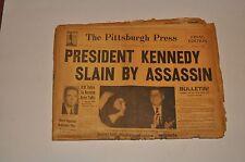 The Pittsburgh Press President Kennedy slain by assassin