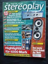 Stereoplay 10/97, EUMIG FL 1000 P, cabasse iorise, fregatta, Naim NAC 102,nap 250,