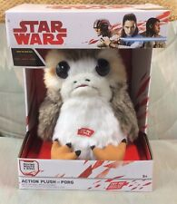 "Star Wars Porg Plush The Last Jedi TALKING MOVING LIFE SIZE 11"" Box New Solo"
