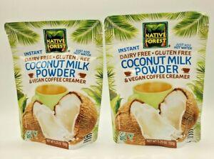 Native Forest Vegan Coconut Milk Powder 5.25 Ounces Set of 2 Expires June 2023