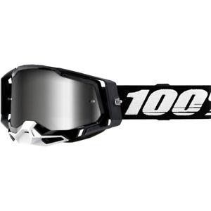 100% MX Percent Racecraft 2 Black/Silver Mirror Off Road Dirt Bike Goggles
