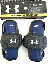 NEW Under Armour Player SS Navy Blue & Black Adult Large Lacrosse LAX Arm Pads