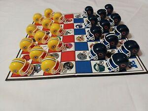 Green Bay Packers Checkers Board Game Helmet Set NFL Vintage 1993 Football Retro