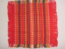 Farbenfrohes bulgarisches Tischdeckchen 25cm x 25cm, typesches Landesmuster