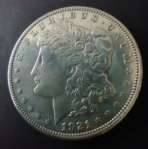 Solid Silver Morgan Dollar 1921 USA Coin