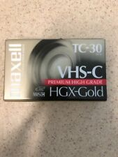 New and Sealed Maxell HGX Gold TC30 VHS-C Premium High Grade Video Cassette