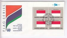 TIMBRE STAMP FDC COVER NATIONS UNIES USA Y&T#547 INDONESIE DRAPEAU X4 1989 ~B74
