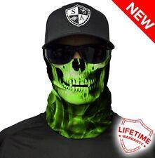 Sa empresa Careta Multi-uso Tubular Bandana Verde crow skull