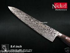 Handmade Nickel Damascus knife Gyuto Chef's Knife 9.4 inch Wood-Handle Cutlery