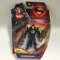 DC MATTEL MAN OF STEEL SHADOW ASSAULT GENERAL ZOD w/2 IN 1 MEGA BLADE