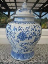 VASE POTICHE   Porcelaine ASIATIQUE  FLEURS 27 cm haut