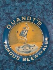 Vtg Quandts Beer + Ale Troy N.Y. Advertising Tip Tray