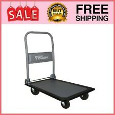 Heavy Duty Folding Platform Dolly Cart Portable Wheels Trolley Push Behind Mover