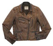Vintage LEVIS Leather Jacket P/M Medium Womens DISTRESSED Motorcycle Jacket Coat