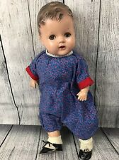 "Vintage Composition Baby Doll Large 20"" Flirty Sleepy Eyes Flossie 1923 Teeth"