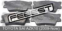 Pad Kit, Disc Brake, Rear For Toyota Sai Azk10 (2009-Now)