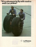 1980 Original Advertising' Lufthansa Germany Airlines With Such IN Well-Run Airl