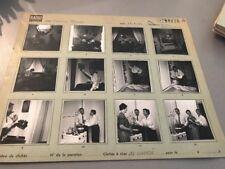 MICHELINE FRANCEY : PLANCHE CONTACT ORIGINALE DE 1961