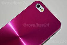 Hülle für Apple iPhone 5/5s Alu Tasche Pink Metall Schutzhülle Etui Case Cover
