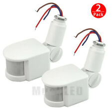 2x12M Outdoor Security PIR Infrared Motion Sensor Detector Switch 180° LED Light