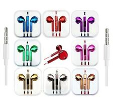 Headphones Earphones With Mic Colour Chrome For EarPods HTC Sony Samsung Apple