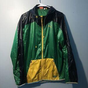 Puma Faas Soccer Windbreaker Uspwind Jacket Mens Size Medium