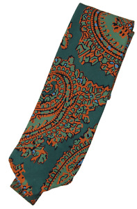 NWT - Drake's – Emerald Green Silk Tie w/Exploded Paisley Print