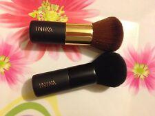 2 X INIKA  Kabuki Brushes, Black and Yellow Handle + free natural eyeliner kajal